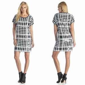 New! MICHAEL KORS Houndstooth Sequin Party Dress